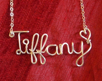 Bridesmaid necklace,Tiffany necklace,Name Necklaces,Personalized wedding jewelery,Birthday gift,Custom Name necklace