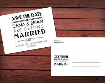 The Charleston Save the Date Postcards