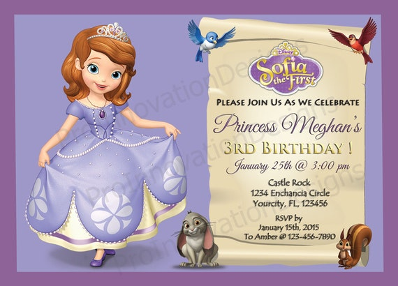 disney' sofia the first invitation. sofia the first party, Party invitations