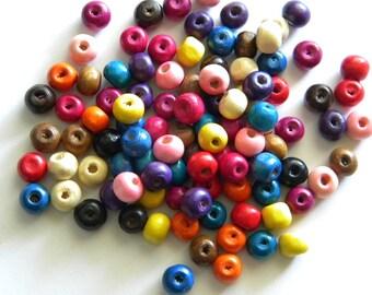 50 8mm Wooden Beads