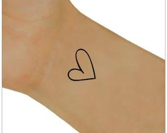 Temporary Tattoo Hearts Tattoo Ultra Thin Fake Tattoo Waterproof