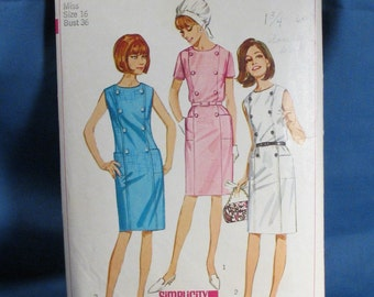 Vintage Simplicity Sewing Pattern 6532 Misses Size 16