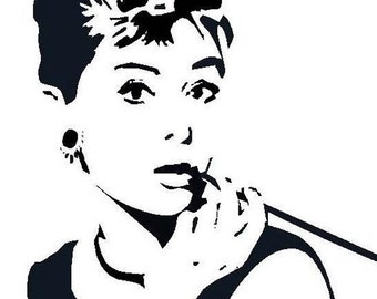 Audrey silhouette   Etsy