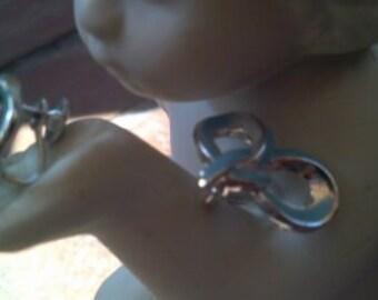 CORO vintage earrings..baby blue series..silvertone..vintage 1960s