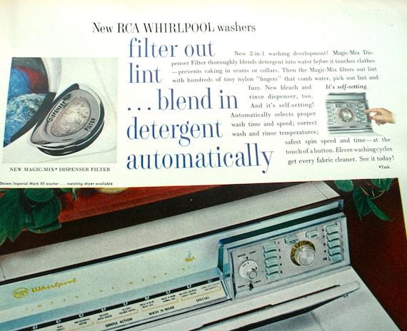 Anuncio vintage ropa retro 1960 rca whirlpool por chloesfuncloset