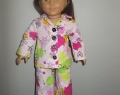 New Pink Smiley Face Hippy PJ for American Girl Doll Pajama Clothing 18 in Doll Boy