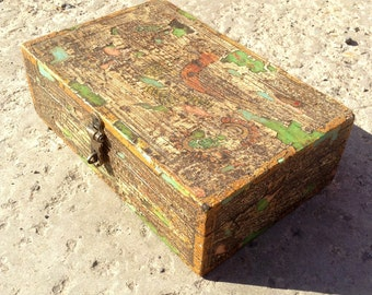Vintage painted box from Rajasthan. India