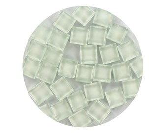 Clear Crystal Glass Mosaic Tiles - 1 lb Bags - 10 mm