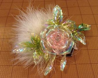 Glass Flower Fascinator
