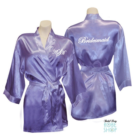 Bridal Party Robes With Monogram Amp Title Bridesmaid Robe