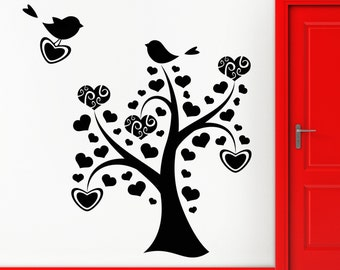 Wall Stickers Vinyl Decal Tree Branches Bird Floral Decor For Bedroom (z1785)