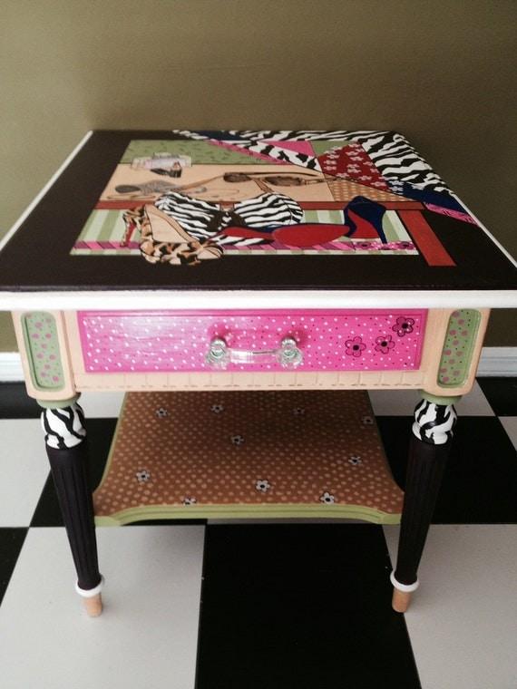 final sale exquisit vintage ethan allan end table night. Black Bedroom Furniture Sets. Home Design Ideas
