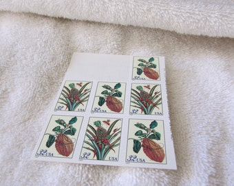 7 Maria Sibylia Merium 32 Cent Postage Stamps   Botanical Design