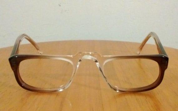 vintage mid century modern reading eyeglasses brown by
