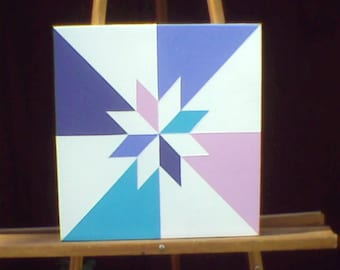 "12"" X 12"" Mini Barn Quilt, Barn Art. Don't Have a Barn? No Problem! Barn Quilts for the rest of us!"