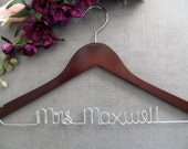 Bride Hanger - Wedding Dress Hanger - Last Name Hanger - Shower Gift - Custom Wedding Hanger - Bridesmaid Hanger - Personalized Hanger