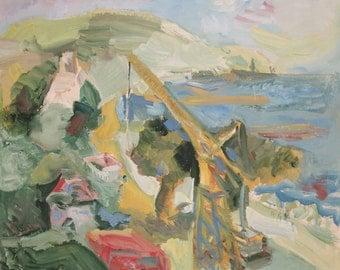 Landscape Seascape Expressionist Oil Painting
