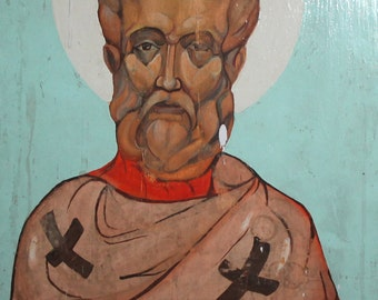 Saint Clement of Ohrid hand painted oil painting icon