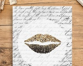 Printable Art Glam Lips - Any Size Printable / Instant Download