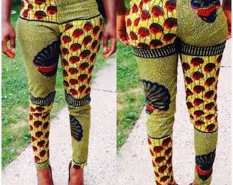 African print pants long