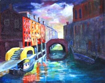 """Venice Canal - Oils 18x24"""""""