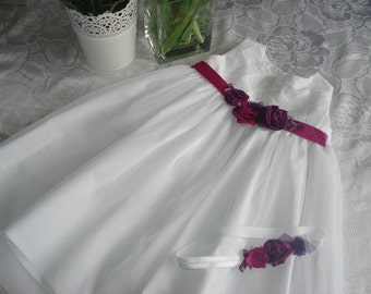 christening dress fuchsia