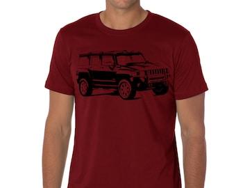 Car T-shirt Hummer H3 suv gift for real men husband boyfriend H3x AUT054