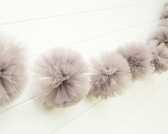 Gray Tulle Garland