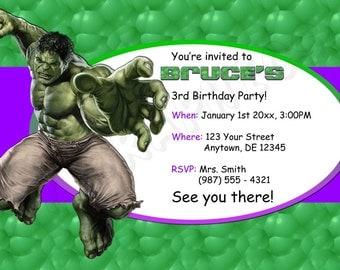 il_340x270.623991250_azkn hulk invite etsy,Hulk Birthday Invitations