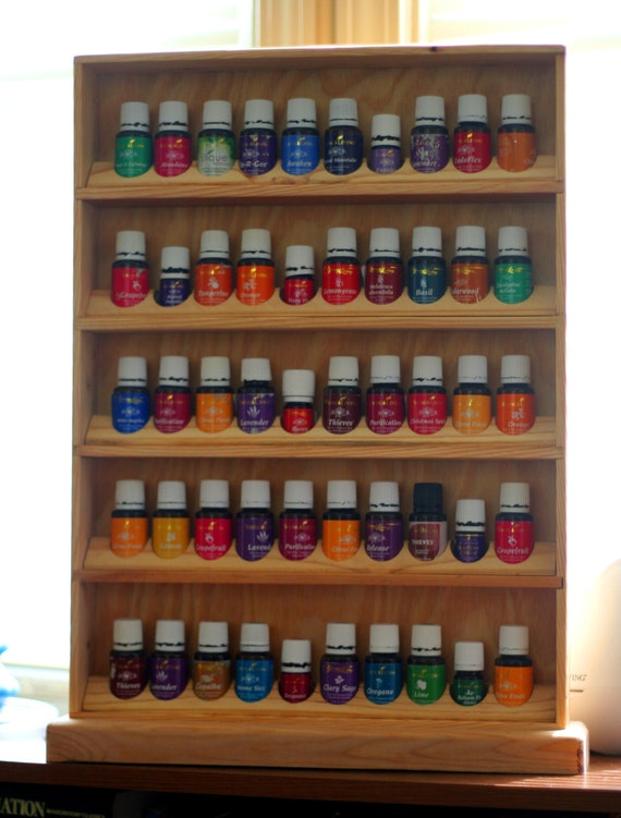 Essential oil shelf holds 50 15 ml young by jswoodworkandmore for Tree of life bookshelf