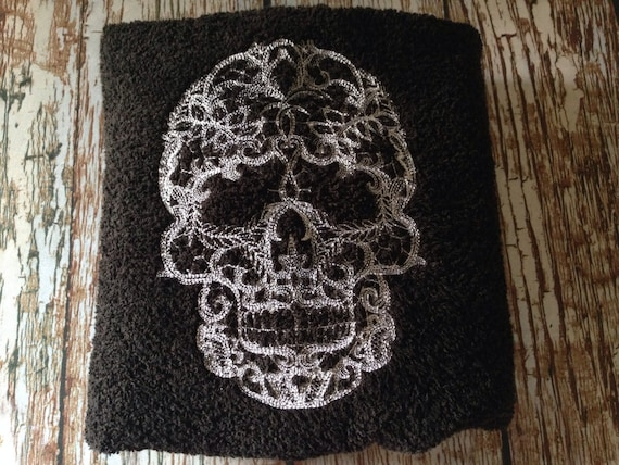 this listing is for one 1 custom embroidered bath sized towel colors are customizable and personalization is available for an additional charge - Halloween Bath Towels