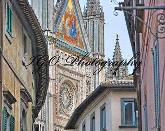 Landscape and Architecture Photography - Streets of Orvieto - Cathedral - Umbria Italy - Italian Photography - Wall Art -Travel Photography