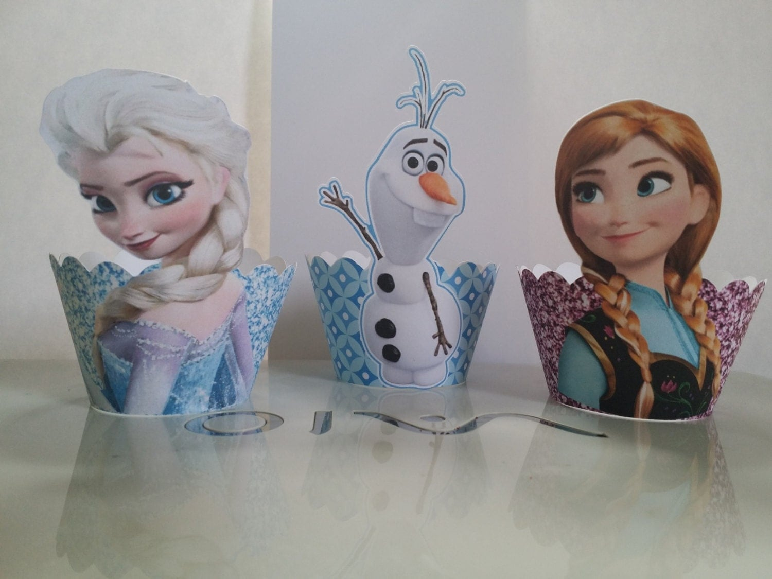 Frozen Cupcake Wrappers Elsa Anna & Olaf