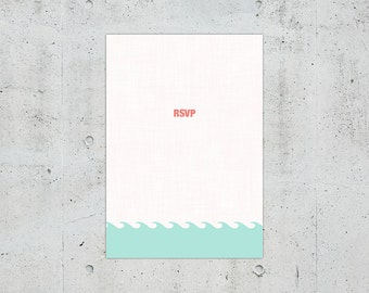Nautical Wedding RSVP Card | Printable DIY | Color Customizable