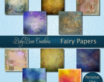 10 Digital Scrap Papers With Fairies