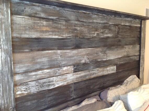 T te de lit bois rustique par southphillybarn sur etsy - Tete de lit bois rustique ...
