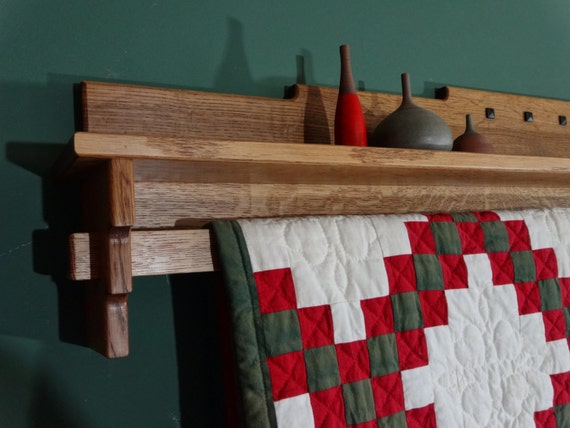 """Items Similar To Craftsman Mission 48"""" Quilt Wall Rack"""