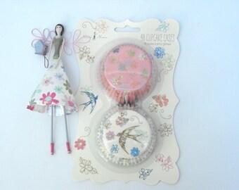 Magical Meri Meri 'Love in the Afternoon' Fairy Cake/Cupcake Cases. FREE P&P