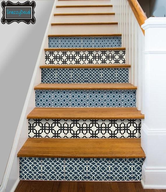 Cuisine salle de bain mur escalier contremarche tuile stickers - Stickers pour marche d escalier ...