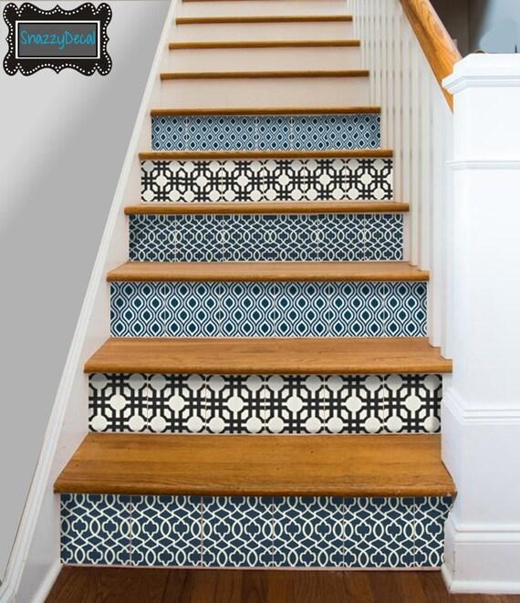 Cuisine salle de bain mur escalier contremarche tuile stickers - Aangepaste trap leroy merlin ...
