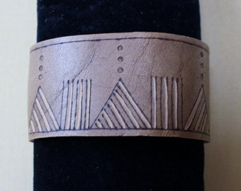 Leather cuff  bracelet.