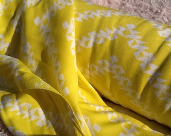 Yellow Zig Zag Rayon Fabric by the Yard, Fabric by the Yard, Yardage