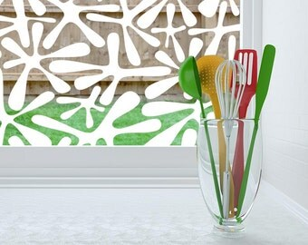 clear decorative window film - static cling or adhesive - Amoeba Pattern