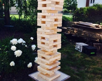 Giant Falling Blocks Lawn Game (3ft tall)