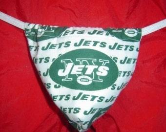 Mens NEW YORK JETS   G-String Thong Male Nfl Lingerie Football Underwear