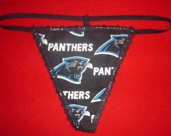 Womens CAROLINA PANTHERS Green G-String Thong Female Nfl Lingerie Football Underwear
