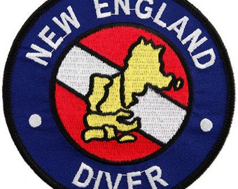 NEW ENGLAND Diver Scuba Diving PATCH embroidered iron-on Dive Emblem