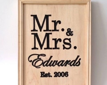 Mr & Mrs Established Sign