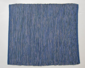 Handwoven Blue Cotton Rug