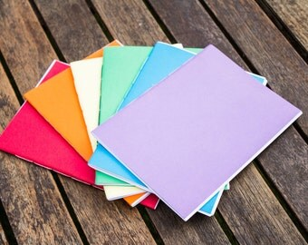 Set of 6 A5 Rainbow Notepads